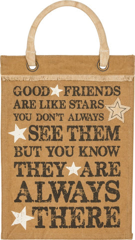 Canvas Wall Banner 'Good Friends are like Stars'  B-104