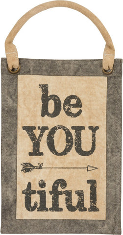 "Canvas Wall Banner ""be YOU tiful"" Inspirational Beautiful Print  B-105"