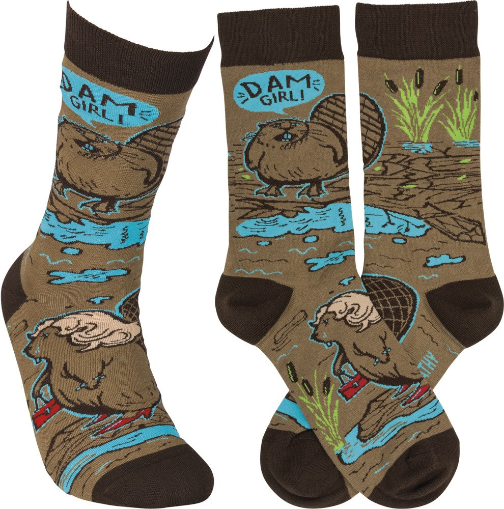 "Socks ""Dam Girl!"" Unisex Adult - One Size Fits Most"