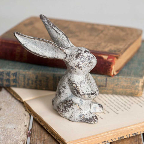 Cast Iron Long-Eared Bunnies- Set of TWO #800-102