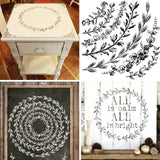 "IOD Decor Stamp Wreath Builder  12x12"" by Iron Orchid Designs"