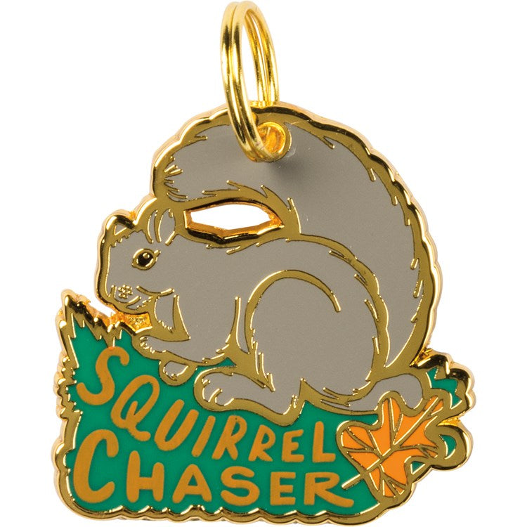 Pet Collar Charm Squirrel Chaser #1215