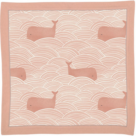 Baby Security Blanket Pink Whales #1241