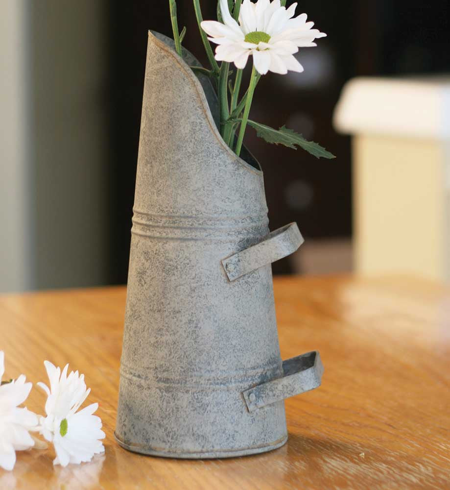 Coal Bin Galvanized Tin Farmhouse Style Flower Vase Utensil Holder #800-44