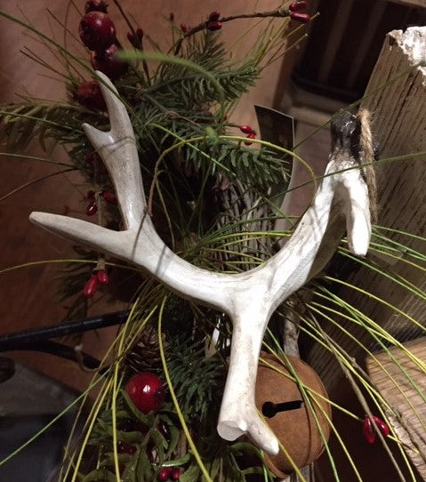 Christmas Ornament Deer Antler Set of 2