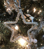 Christmas Ornament Sparkly Star Set of 2 #117