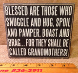 Box Sign Blessed Grandmothers #846