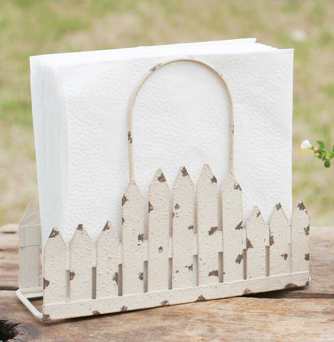 Picket Fence Napkin Holder Caddy for Farmhouse Style Kitchen #800-79