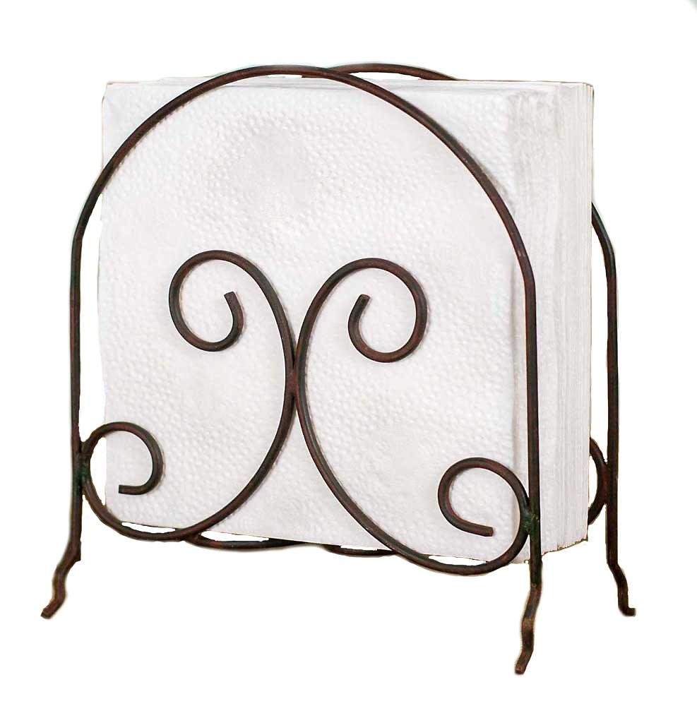 Napkin Holder Scroll Design Metal Wire Caddy Kitchen Dining Table #800-60