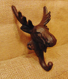 Cast Iron Moose Single Sturdy Wall Hook #420