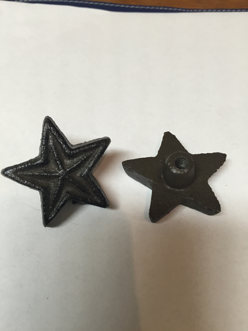 Cast Iron Rustic Star Drawer Pull Knob 430