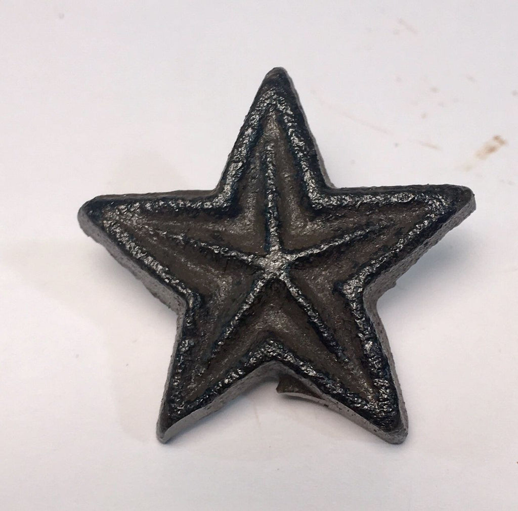 Cast Iron Rustic Star Drawer Pull    #430