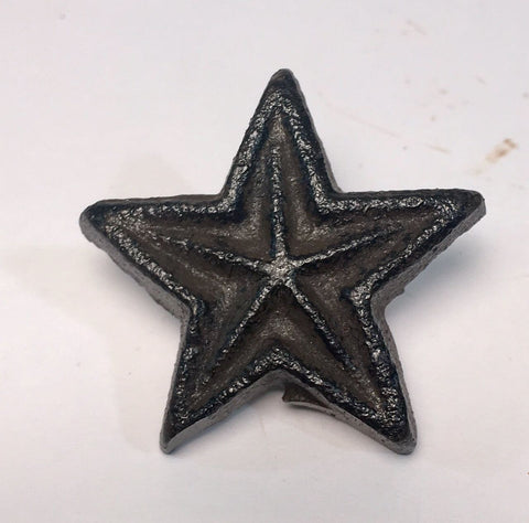 Cast Iron Rustic Star Drawer Pull Knob   #430