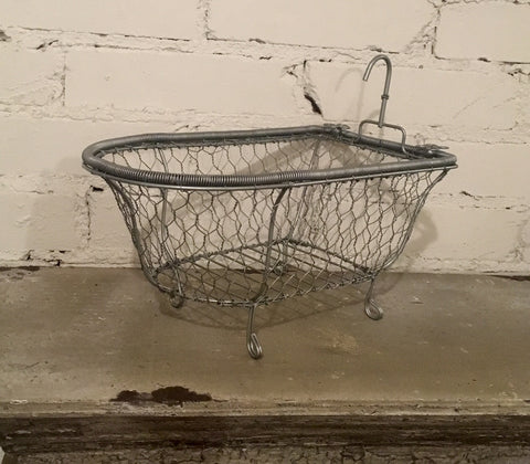 Chicken Wire Basket Soap Dish Bathroom Decor Bathtub Caddy Towel Holder