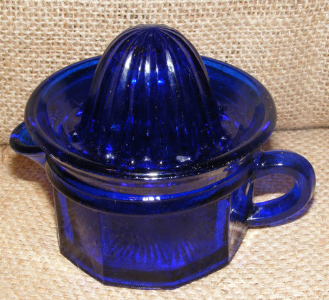 Cobalt Blue Measuring Cup Juicer Reproduction Depression Glass #506C