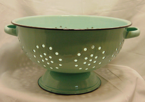 Colander Pale Blue Enameled #540B