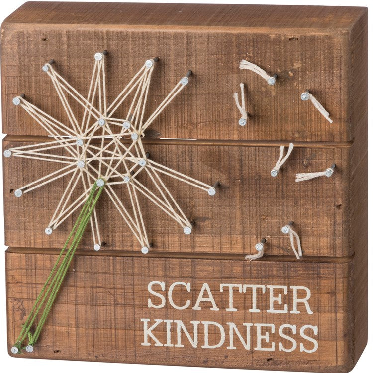 "Box Sign string Art ""Scatter Kindness"" #1298"
