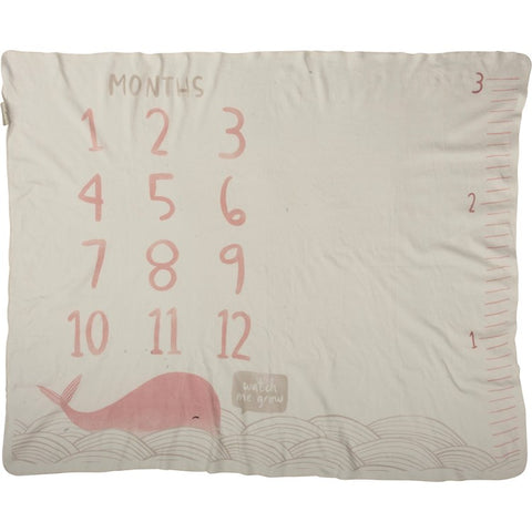 Baby Infant Milestone Blanket Pink Whale for photos #1416