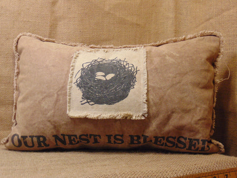 Our Nest is Blessed  Pillow #870