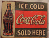 Coca Cola Tin Advertising Sign #545