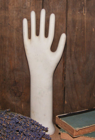 Vintage Ceramic Glove Mold #RK1