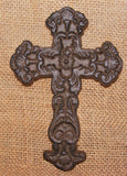 Cast Iron Small Fleur Wall Cross  #313