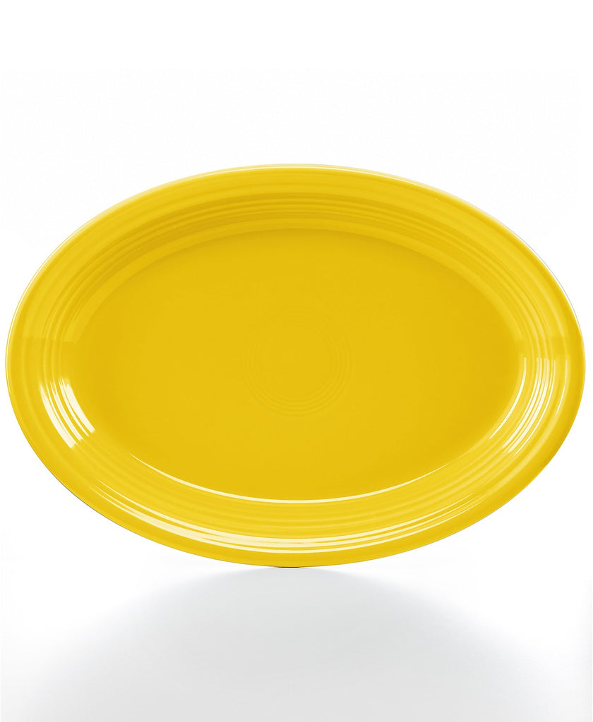 "Fiesta Ware Large Oval Platter Sunflower Yellow 13.5"" Fiestaware"