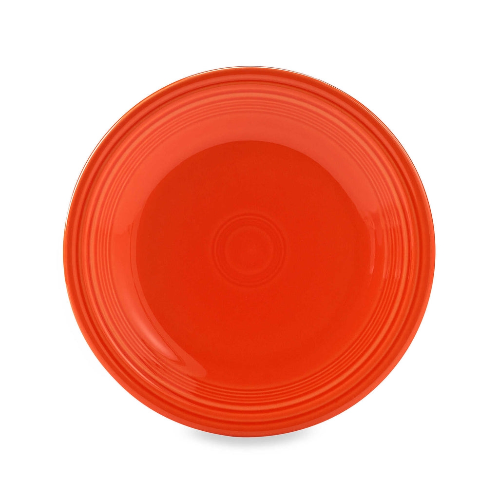 "Fiesta Ware Dinner Plate Poppy Orange 10.5"" Inch Fiestaware"