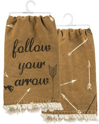 "Tea Towel ""Follow Your Arrow"" Inspirational Decorative Kitchen Dish Cloth"