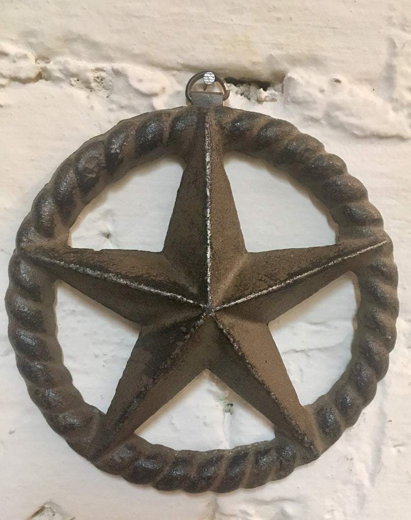 Cast Iron Star Rope Wall Plaque  #309