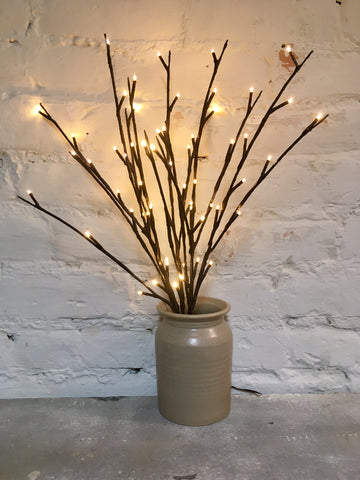 Lighted Willow Twigs Branch - Primitive Country Rustic Floral Decor Light #736