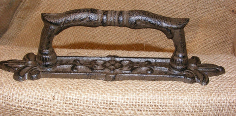 Door Handle Detailed Cast Iron Ornate Vintage Style #131