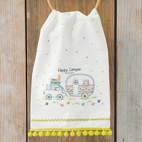 Natural Life Happy Camper Tea Towel #900-124