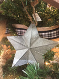 Tin Star Ornament Set of Two #800-55
