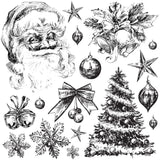 "IOD Decor Stamp Holly Jolly 12x12"" by Iron Orchid Designs"