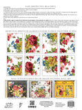 "IOD Decor Transfer Wall Flower 12 X 16"" Pad by Iron Orchid Designs **NEW PAD FORMAT!!"