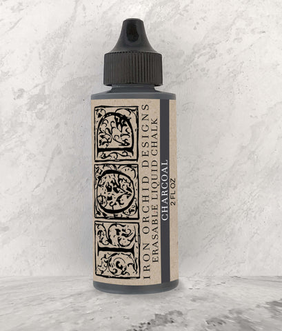 IOD Erasable Liquid Chalk Charcoal Black by Iron Orchid Designs