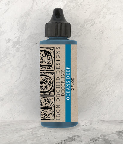 IOD Decor Ink Oceans Deep (Blue) 2 oz. by Iron Orchid Designs