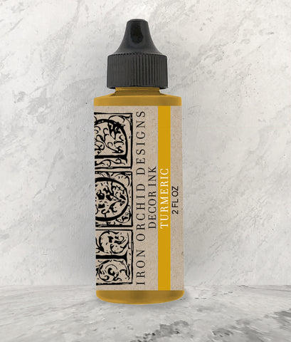 IOD Decor Ink Turmeric (Yellow) 2 oz. by Iron Orchid Designs