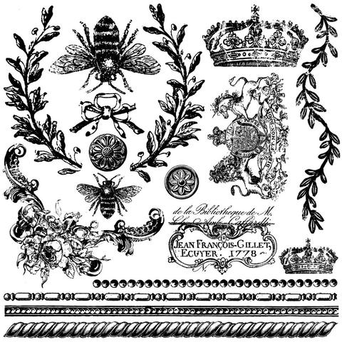 "IOD Decor Stamp Queen Bee 12x12"" by Iron Orchid Designs"
