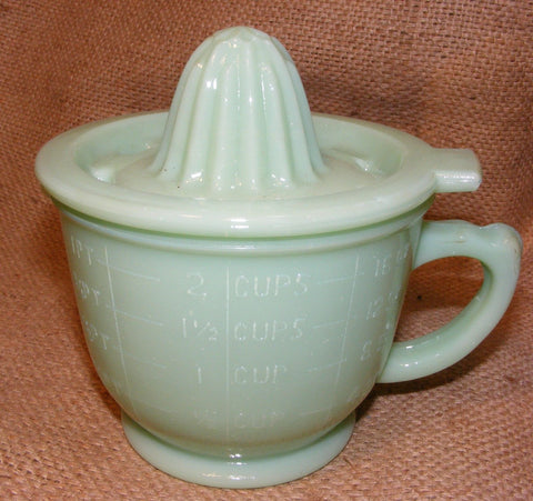 Jadeite Green Measuring Cup Juicer Reproduction Depression Glass # 505J