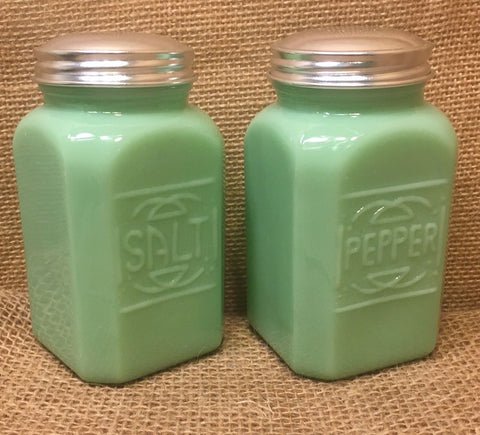 Jadeite Green Salt and Pepper Shakers # 504J