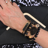 Kinsley Armelle Eternity Coal Black Onyx Bracelet #117-533