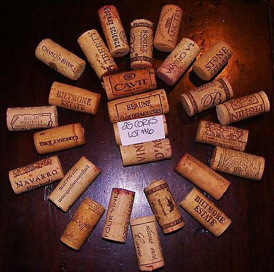 Wine Corks Lot of 25 All Natural Recycled