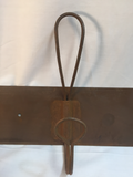 Wall Hook Tin Rusty Base with 4 Wire Hooks #1003