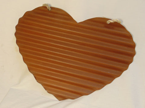 Corrugated Rusty Tin Heart  #1005