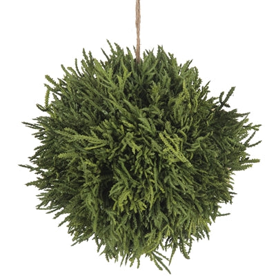 Faux Cypress Hanging Ball