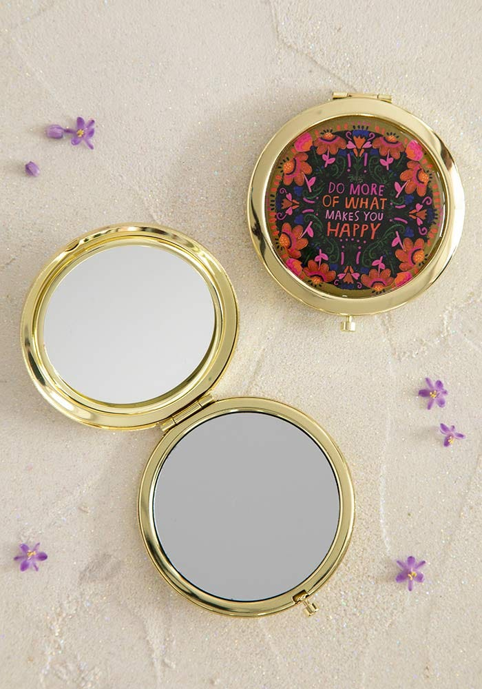 Natural Life Mirror Compact Makes You Happy #900-238