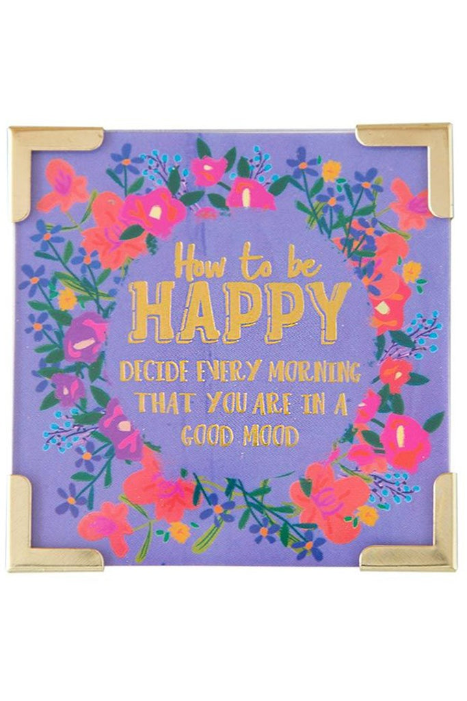 Natural Life Corner Magnet How to Be Happy #900-227