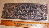 "Cast Iron ""On This Site"" Plaque #306"